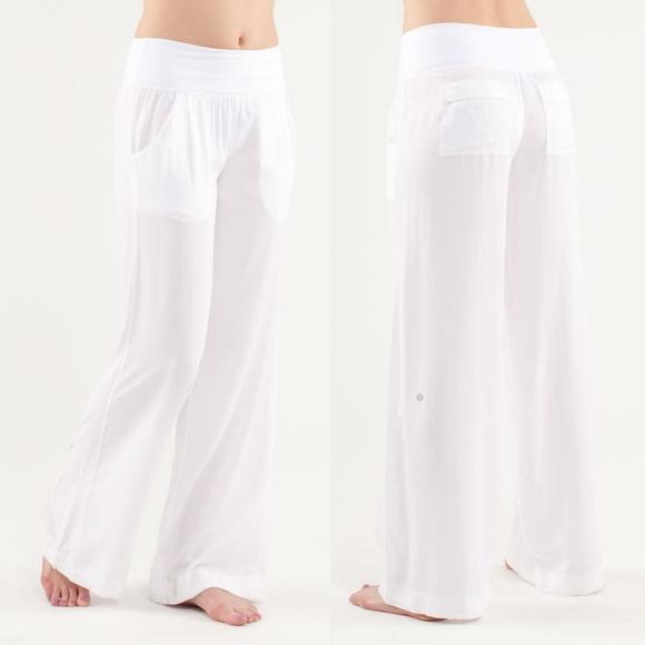 Lululemon Drishti Wide Leg Pants White Size 2